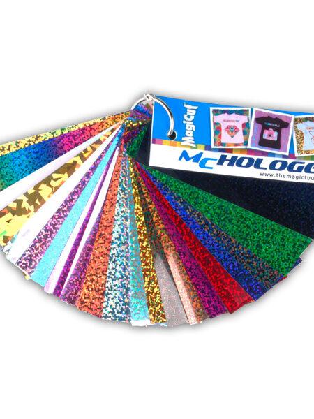 Kleurenwaaier Holografisch Flexfolie